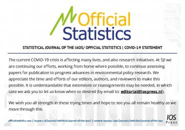 Statement official statistics